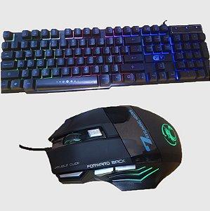 Kit Teclado GAMER fy GK-41 e Mouse Optico USB GAMER  X7