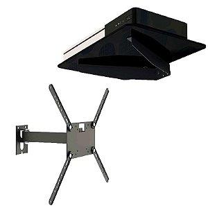 Kit Suporte de Parede para Conversor / Blu-Ray / DVD / Acessórios + Suporte para TV 14  Á 56 Polegadas Articulado