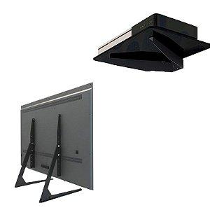 Kit Suporte de Parede para conversor / Blu-Ray / DVD / + Suporte para TV de Mesa 32 a 65 polegadas STAND100