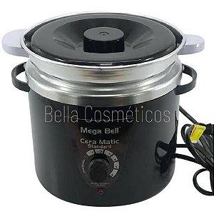 Aquecedor Profissional de Cera Matic Standard Mega Bell - 900g - Com Refil - Bivolt (Não automático)