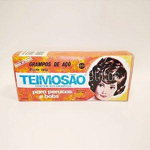 Grampos Teimosão de Aço p/ Cabelo nº7 Preto c/ 400 unidades