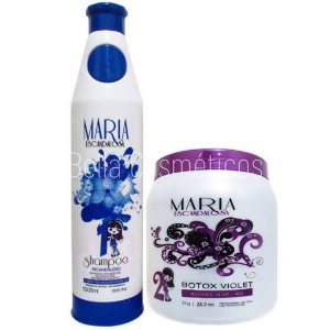 Kit Maria Escandalosa Botox Matizador (Shampoo+Botox Violet) - 2000ml
