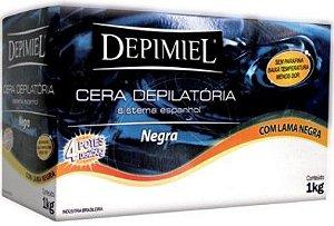 Cera Depilatória Sistema Espanhol Lama Negra Depimiel - 1kg