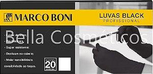 Caixa de Luvas Black Marco Boni - c/20 unidades de luva