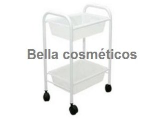 Moveis salao carrinho Auxiliar Manicure (2 Bandejas) *R$ 125,80*
