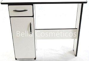 Mesa Dinâmica Branca Dafer (1 Gaveta e 1 Porta) *R$ 278,00*