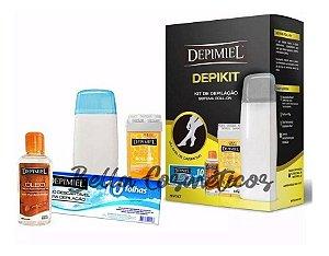 Kit Aquecedor Profissional de Cera Roll on Depimiel - BIVOLT