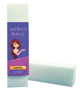 LIXA BRANCA BLOCO - MODELAR E POLIR CELS REF 5908