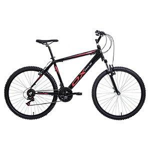Bicicleta Aro 26 OX Alumínio 21V Preto com Vermelho