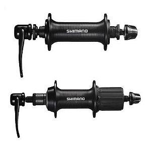 Par de Cubos Shimano TX800 32 Furos V-Brake 8/9V