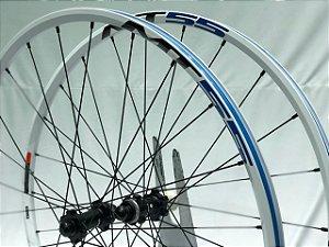 Roda Shimano Aro 29 WH-MT55 Branco e Azul