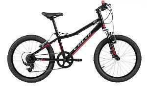 Bicicleta Aro 20 Caloi Wild XS 7V Alumínio Preta