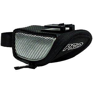 Bolsa de Selim P/Bicicleta - Pro Stradius Carbon - Laterais em Carbono - Preto e Prata