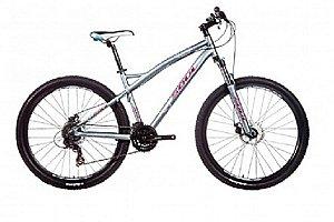 Bicicleta Soul Flora aro 27,5 Feminina Cinza