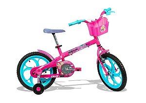Bicicleta Aro 16 Feminina - Caloi Barbie - Aço - Rosa
