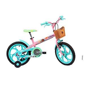 Bicicleta Caloi Moana Feminina aro 16 Rosa