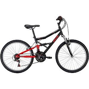 Bicicleta Caloi Shok aro 24 Preta