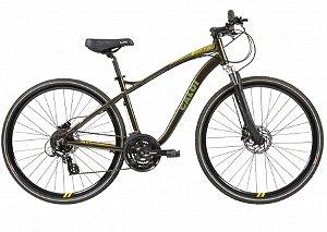 Bicicleta Aro 700 Masculina - Caloi Easy Rider Aro 700 - Shimano Altus - Alumínio - Verde