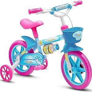 Bicicleta Nathor Aqua aro 12 Rosa e Azul
