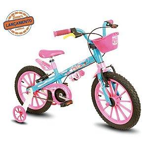 Bicicleta Nathor Candy aro 16 Azul e Rosa