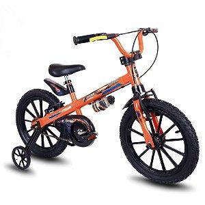 Bicicleta Infantil Aro 16 - Nathor Extreme - Aço - Laranja e Preto