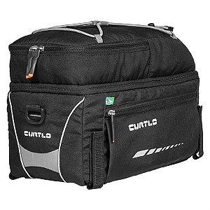 Alforje Para Cicloturismo/Commute - Curtlo Rack Pack - 12 Litros - Preto