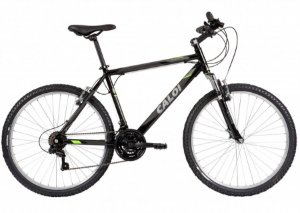 Bicicleta Aro 26 Masculina - Caloi Sport - 21 Velocidades C/ Suspensão - Alumínio - Preta