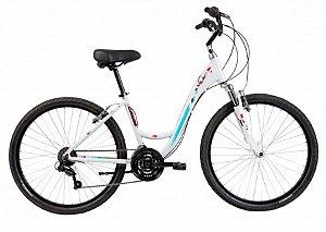 Bicicleta Aro 26 Feminina - Caloi Ceci Classic - 21 Vel e Suspensão - Alum - Branca