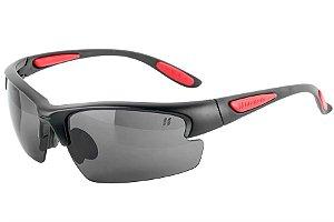 Óculos High One com 3 Lentes Preto e Vermelho