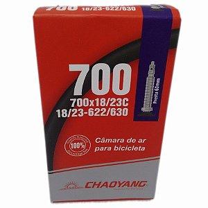 Câmara 700x18/23 Chaoyang Bico Fino FV 48 mm