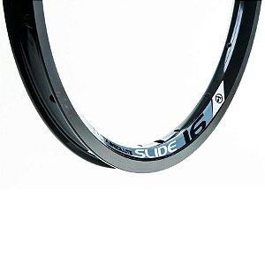 Aro 16x1.75 - 16 Furos - Absolute Slide - Folha Dupla - Alumínio - Preto