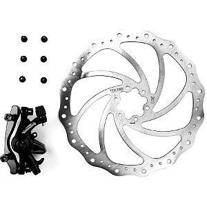 Freio a Disco Mecânico Tektro Novela com Rotor 203 mm