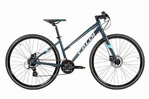 Bicicleta Aro 700 Feminina - Caloi City Tour Sport - Shimano Tourney - Alum - Azul