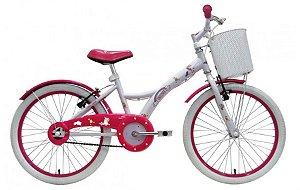 Bicicleta Infantil Groove Unilover Aro 20 Branca com Cestinha