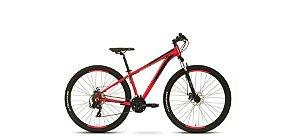 Bicicleta Tito Cliff 21V Disco Preta e Vermelha  Aro 24