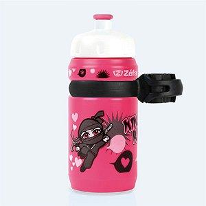 Garrafa Zefal Infantil 350ml Ninja Rider Rosa