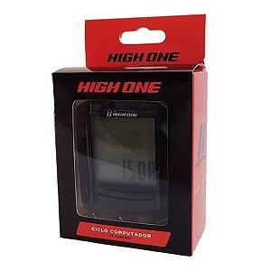 Velocímetro Ciclo Computador High One 15 Funções Wireless Com Luz