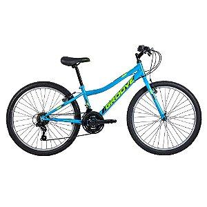 Bicicleta Infantil Aro 24 - Groove Ragga - 21 Velocidades - Aço - Azul Neon