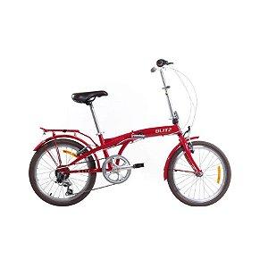 Bicicleta Blitz City - Aro 20 - Dobrável - Aço Carbono - Cores