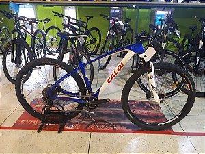 Bicicleta MTB Caloi Elite Carbon Team Shimano aro 29 Branco