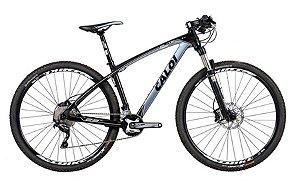 Bicicleta MTB Caloi Elite Carbon Sport aro 29  Cinza