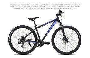 Bicicleta Tito MTB Cliff Aro 27,5 Preto e Azul