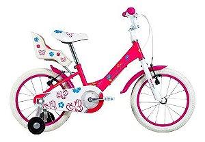 Bicicleta Aro 16 - Groove My Bike - Single Speed  - Aço - Rosa ou Branca