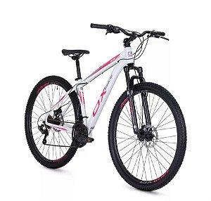Bicicleta MTB OX Glide Aro 29 Feminina Rosa