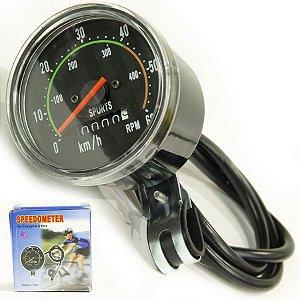 Velocímetro Analógico Redondo 60 Km Odômetro