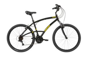 Bicicleta Aro 26 - Masculina - Caloi 400 Comfort - Alumínio - Preta