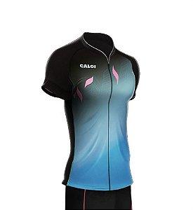 Camisa Caloi Kaiena Sport Preta e Azul