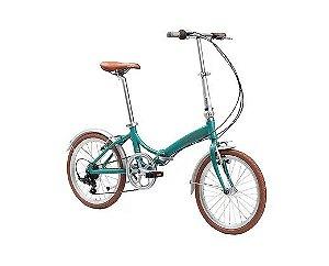 Bicicleta Durban Rio Dobravel Aro 20 Turquesa
