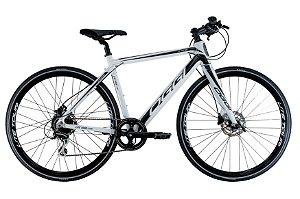 Bicicleta Elétrica Aro 700 - Oggi Lite Tour E-500 - Shimano Acera - Alumínio - Branca