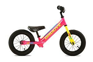 Bicicleta Balance Aro 12 - Groove - Aço - Rosa Neon e Amarela